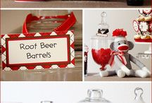 Party foods/decorations / by Sandra St John