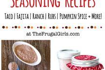 Mixes and seasoning
