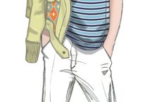 Men's fashion illustartions