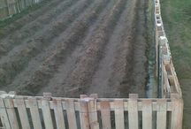 Pallet fencing for compost heap