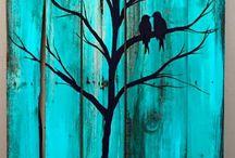 madera pintura