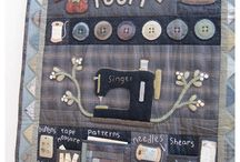 Quilts with a sewing theme
