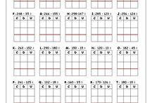 Pracovní listy - matematika