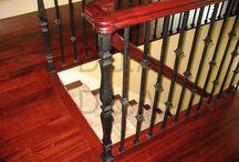 Wrought Iron Elegant Railings / Inspirational , creative ideas for an interior wrought iron railing