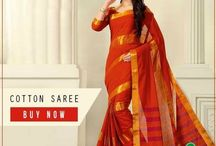 Art silk sarees / The sarees made of art silk have the same lustre and sheen as that of real silk but are very affordable.