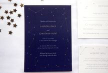 Written In The Stars / Inspiration moodboard to accompany Written In The Stars stationery design. http://www.shortandsweetdesigns.com/written-in-the-stars/