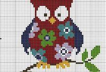 Owls --love-- / son diseños que me gustan y fueron compiladas de distintas páginas y extraídas de la red