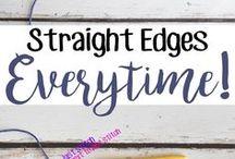 straight edges for crochet