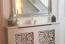 Made to Measure Radiator Covers and Cabinets / Radiator Cabinets, Radiator Covers, French Style, Gothic Style, Baroque Fretwork. Made to measure radiator covers.  White radiator covers.  Small radiator covers.  Small white radiator covers.