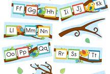 Vogeltjes met letters