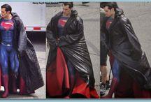 Gorgeous Superman Henry / Superman Henry in Detroit filming Batman vs.Superman 2014