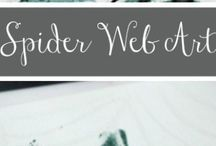 Spider themed crafts for kids