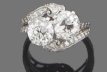 Two diamond rings / Diamond jewelry ring / by Gail Seymour