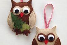 vánoční šité ozdoby