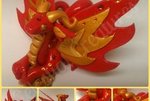 Polymer clay - animals, dragons and other creatures