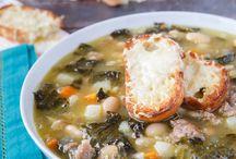tuscan sausage white bean and kale soup