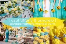 Decor tiffany com amarelo
