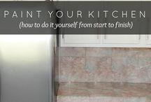 Peinturer les armoires de cuisine