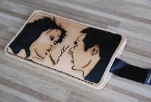 Fight club Theme  smartphone cover, veg tan leather used