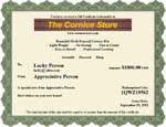 Cornice Kit Gift Certificates