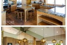 Kitchen Before and After / Kitchen makeovers that will knock your socks off.