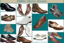 1920s Men - Hats Shoes Coats / Men's shoes, hose, garters, hats, coats, etc.