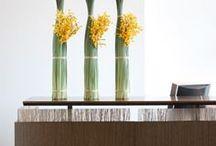 Reception area arrangements
