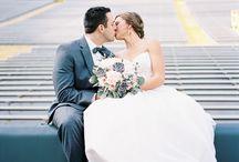 Hochzeit im Fussballstadion / Beispielhafte Aufnahmen im Sportstadiom