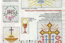 Bordado Cruz Religioso