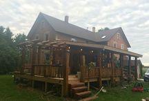 Log porches / My barn beams addition