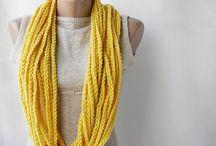 knitting and crocheting / by Jenn Carns-Heaton