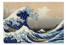 Hokusai Reproductions / Reproductions of Katsushika Hokusai's famous artwork. / by Roz Abellera Art