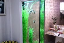 Aquariums in interieur verwerkt