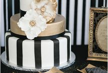 Black & Gold Wedding Ideas / A very popular wedding colour palette that's full of possibilities! Black and gold is a classy choice that is easy to pull together.