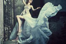 Moving dresses/ jurken in beweging / Ik houd mooie jurken waarbij de beweging van het textiel een belangrijke rol speelt