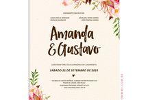 Convites para casamento
