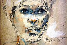 Art - pen ink watercolour
