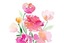 Watercolor paintings- inspiration invites