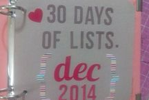 30 Days of lists. December 2014 / Documentar el mes a través de Listas.