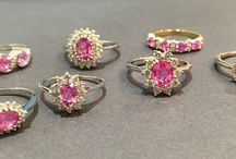 Pink Sapphire Wedding Inspiration / Wedding styling ideas inspired by one of the world's most gorgeous and coveted gems, the pink sapphire.