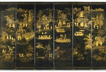 Chinese Export Wallpaper Screen, Qing Dynasty / 100% silk wallpaper, 100% handmade metallic wallpaper with custom antique finishing  Hand-painted chinese painting/ Hand-painted chinoiserie panels @ NSR HANDCRAFTS