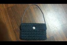 Bolso de mano crochet negro