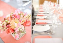 Coral & Gray Wedding