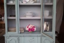 Dining hutch painted