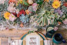 Bohém esküvői dekor