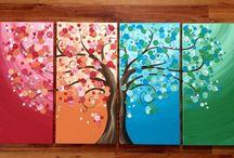 Multi canvas painting