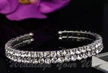 Wedding Jewellery / Tiaras, Hair Combs and Bracelets suitable for weddings,evening wear or any formal occasion.