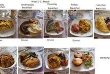 eetplan vir 'n week