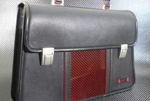 Boston / Briefcase made with carbon fibre and the best selection of leathers