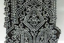 ornament - stamp / tisk na látky - šablony razítka